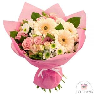 букет нежно-розового цвета