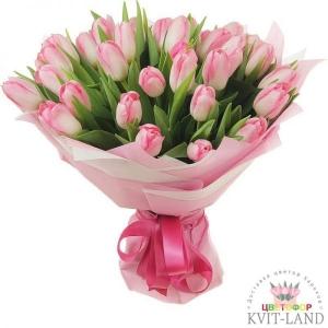 букет розового тюльпана