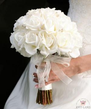 букет невесты белая роза