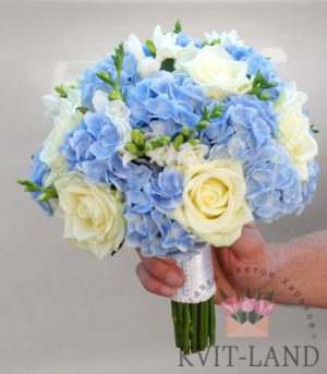 роза гортензия букет невесты