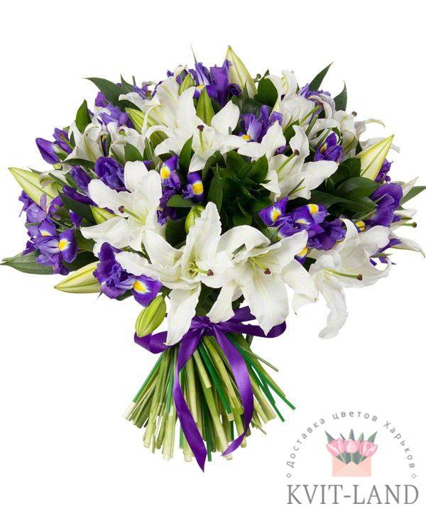 букет лилии и ирис