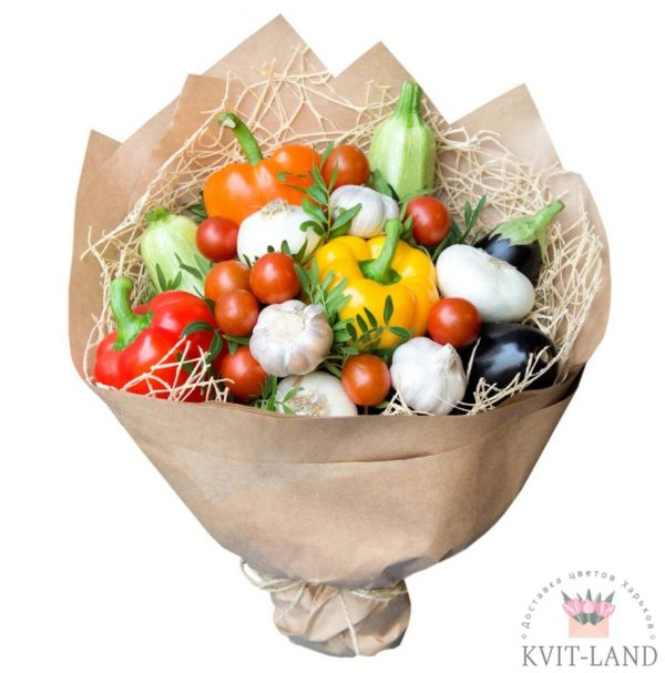 овощной букет в упаковке