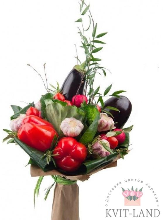 букет овощной в упаковке