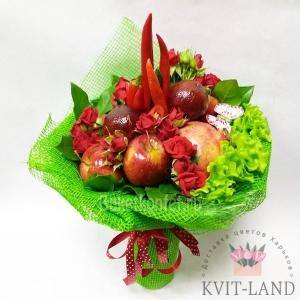 сьедобный букет из овощей