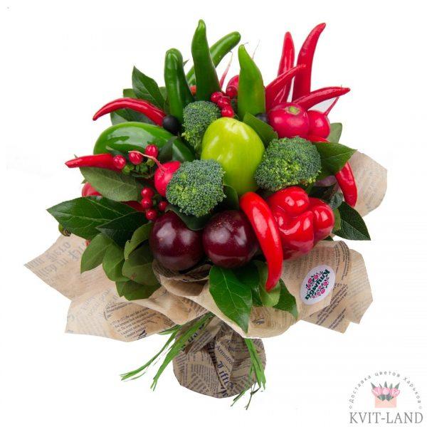мужской букет из овощей