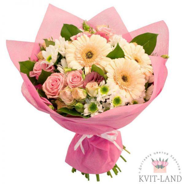 красивый нежно-розовый букет