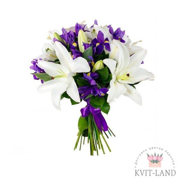 букет лилии ирис