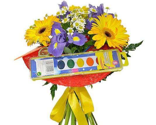 цветы с декором на день знаний