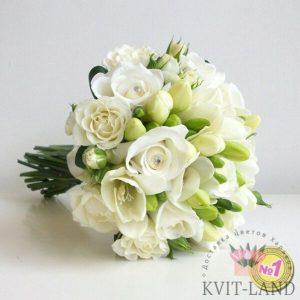 свадебный букет белого цвета