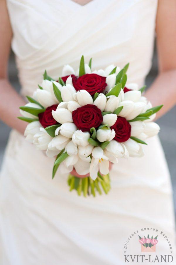 тюльпан в букете невесты