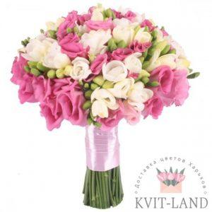 свадебный букет нежно-розовый