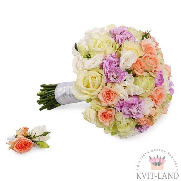 букет невесты шикарный