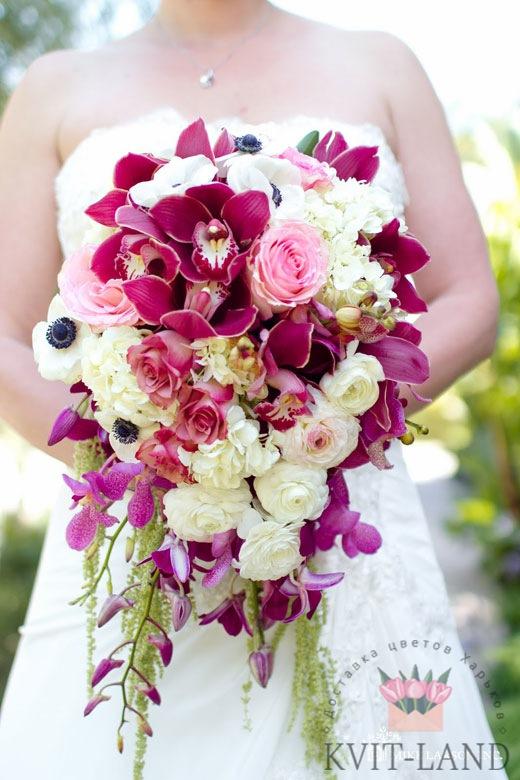 красивейший свадебный букет