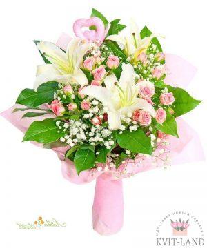 букет нежно-розовый