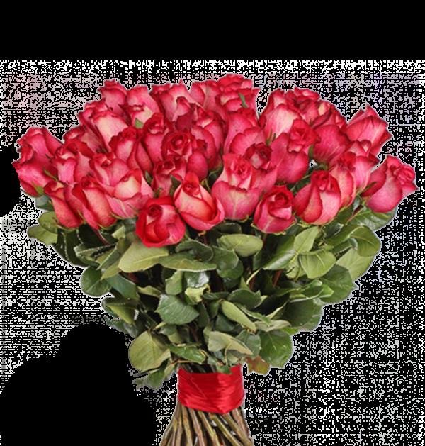 красивый букет из красных роз