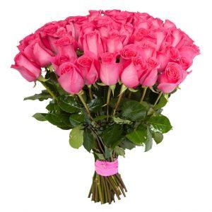 букет голландских розовых роз