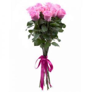 одиннадцать розовых роз