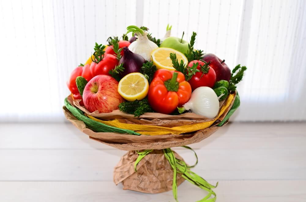 Где заказать овощной букет?