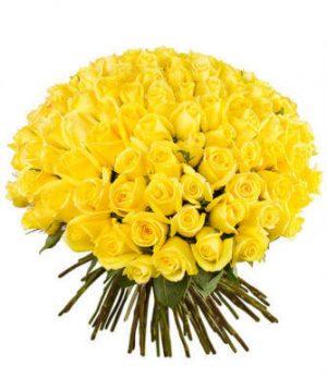 желтые розы сто одна штука