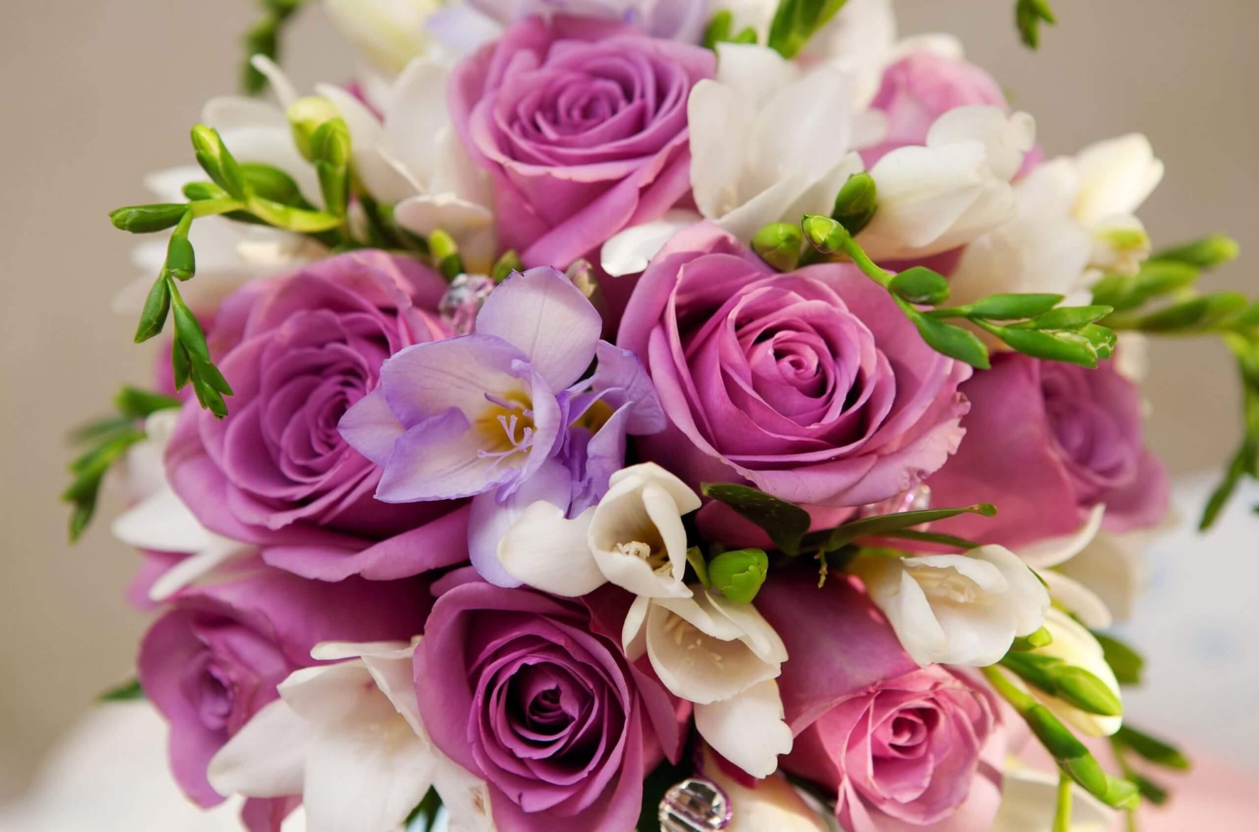 букет из нежных цветов